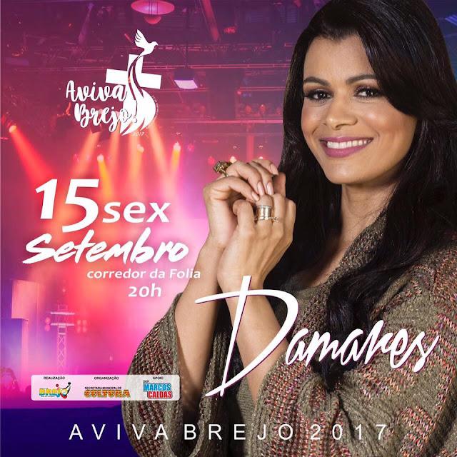 Nesta sexta-feira, 15, será realizado Primeiro Aviva Brejo com a cantora Damares.