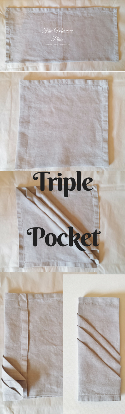 Triple Pocket Fold Napkin