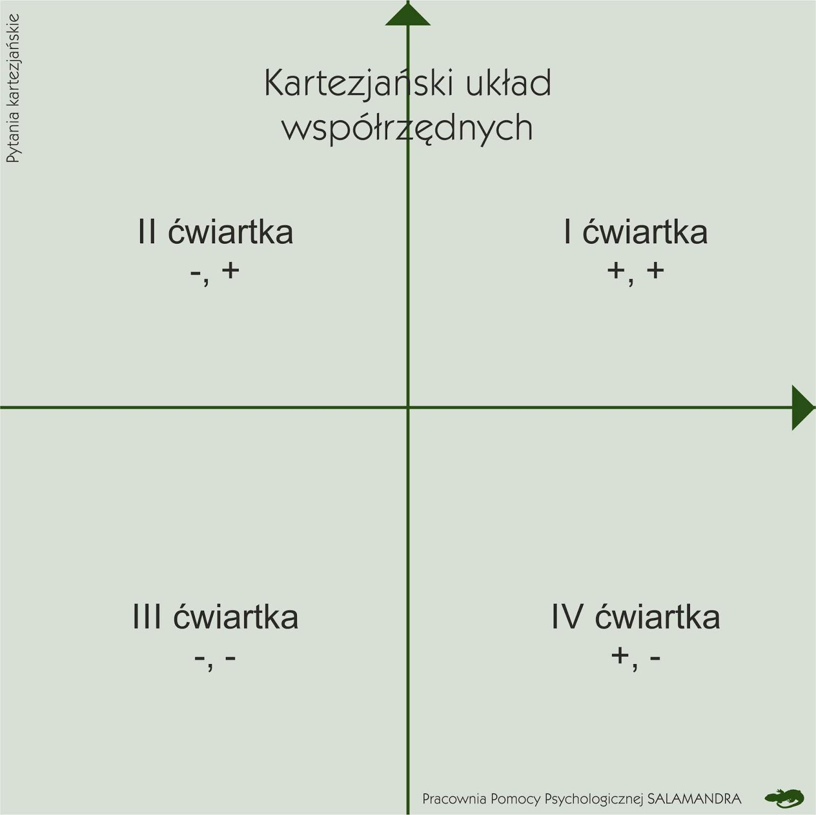 Dobry psycholog Warszawa publikuje kartezjański układ współrzędnych