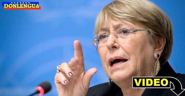 Michelle Bachelet denuncia el miserable salario que reciben los venezolanos
