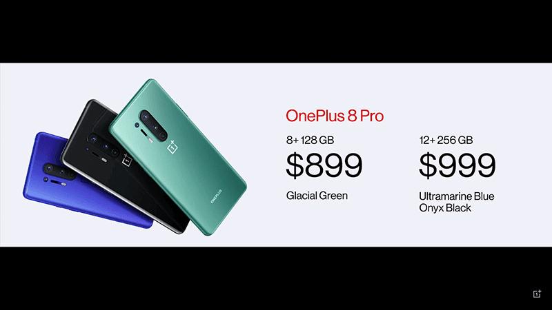 OnePlus 8 Pro prices