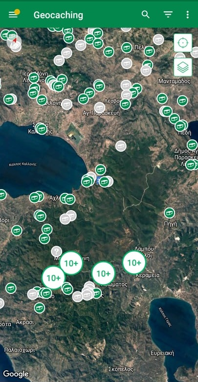 Lesvos geocaching map