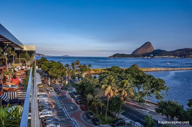 O Pão de açúcar visto do terraço do Hotel Prodigy Aeroporto Santos Dumont