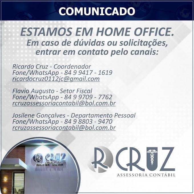 João Câmara: R. Cruz Assessoria contábil está trabalhando em Home Office, (84 9 9417-1619)