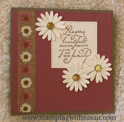 Stampin' Up!, Pressed Petals, Woven Heirlooms, www.stampingwithsusan.com Susan LaCroix, Prayers and Heartfelt Sympathy,