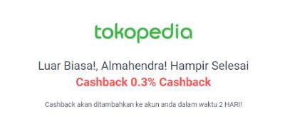 Cara mendapat cashback di tokopedia melalui shopback