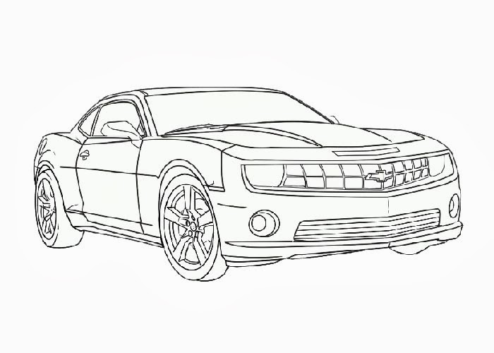 Bumblebee Camaro Coloring Pages Free Coloring Pages And