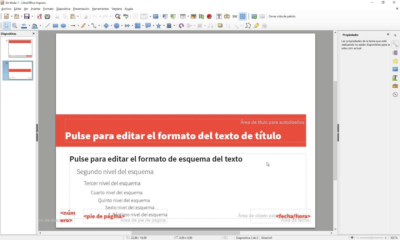 LibreOffice Impress - Patrón de diapositivas   Aplicaciones de Libre Uso