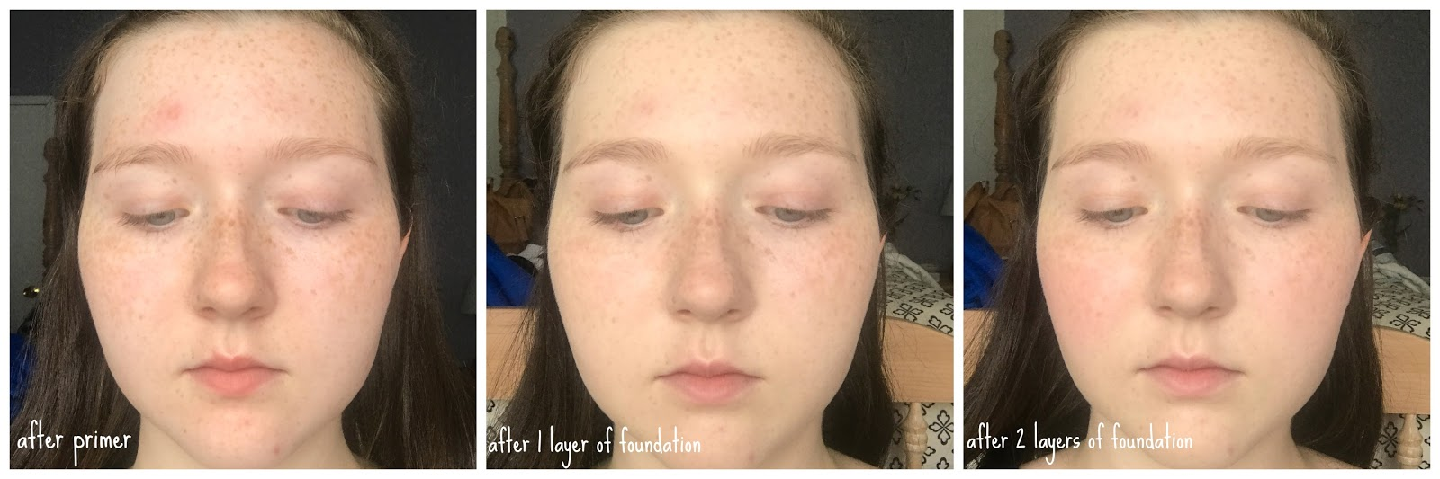 B for beauty 23 review flower beauty about face foundation i applied this foundation over the elf poreless face primer i pumped one pump onto my makeup palettesoap dish then i used a flat paddle foundation izmirmasajfo