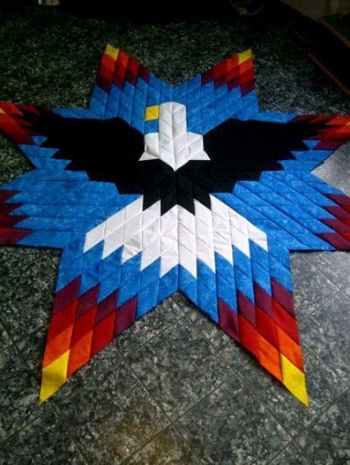 Eagle Lone Star - Free Quilting Pattern