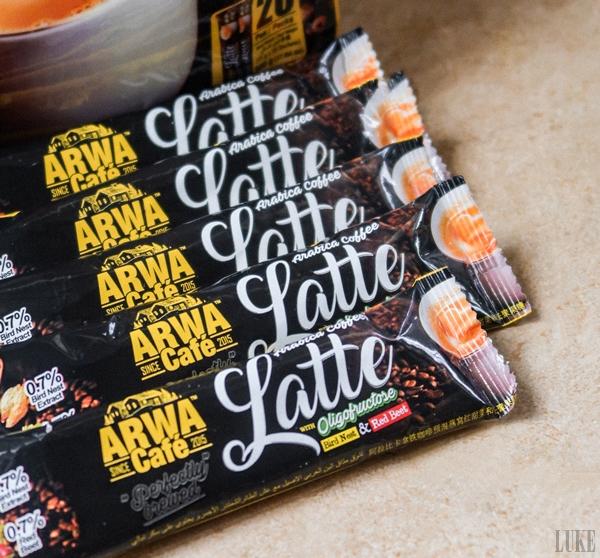Arwa Cafe Arwa Cafe Arabia Coffee Latte with Oligofructose Birdnest & Red Beet