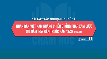 Bài tập trắc nghiệm Sử 11 Bài 19: Nhân dân Việt Nam kháng chiến chống Pháp xâm lược (từ năm 1858 đến trước năm 1873) (phần 1)