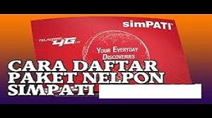 Cara Mendaftar Paket Nelpon dari Simpati