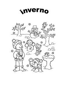 inverno para colorir