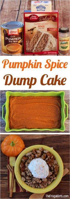 PUMPKIN SPICE DUMP CAKE RECIPE