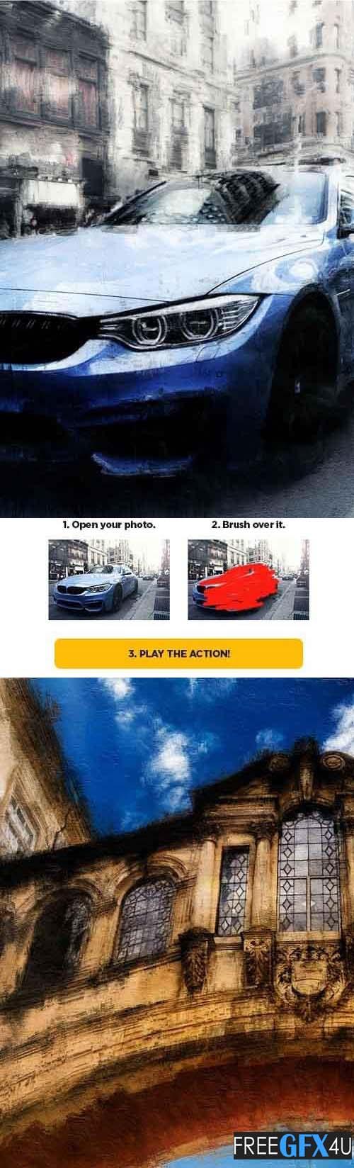 Photoshop Action Dry Brush CS6