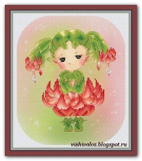 """Christmas Cactus Sprite"" Lena Lawson"