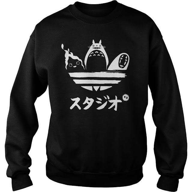 Totoro shirt, Studio Ghibli Tee, Mononoke Anime tshirt, soot sprites Tshirt, Susuwatari Tshirt, Kodama mens T-shirt, Tree Spirits Hoodie Sweatshirt,