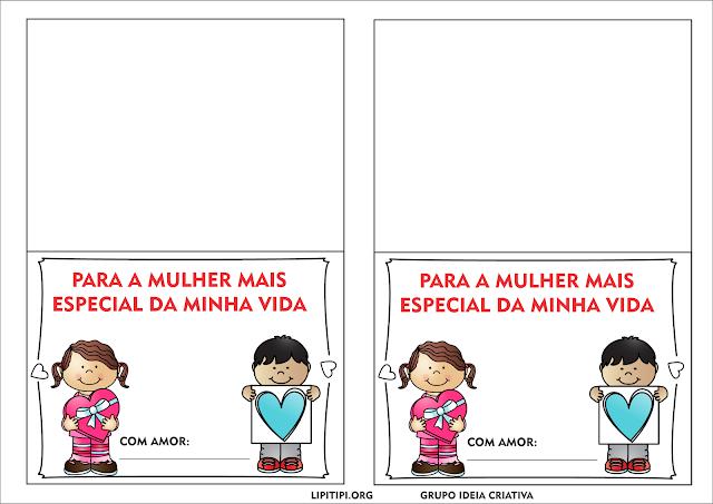 Cartão para Imprimir Dia da Mulher 8 de Março