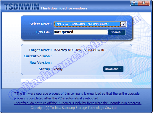 TSDNWIN - TS-L633B DVD ROM Firmware Drivers Update Windows 7 / 8