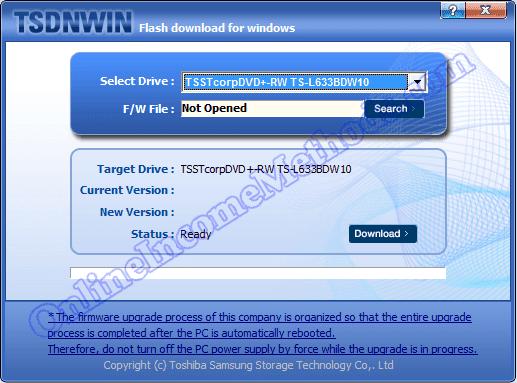 TSDNWIN - TS-L633B DVD ROM Firmware Drivers Update Windows 7 / 8