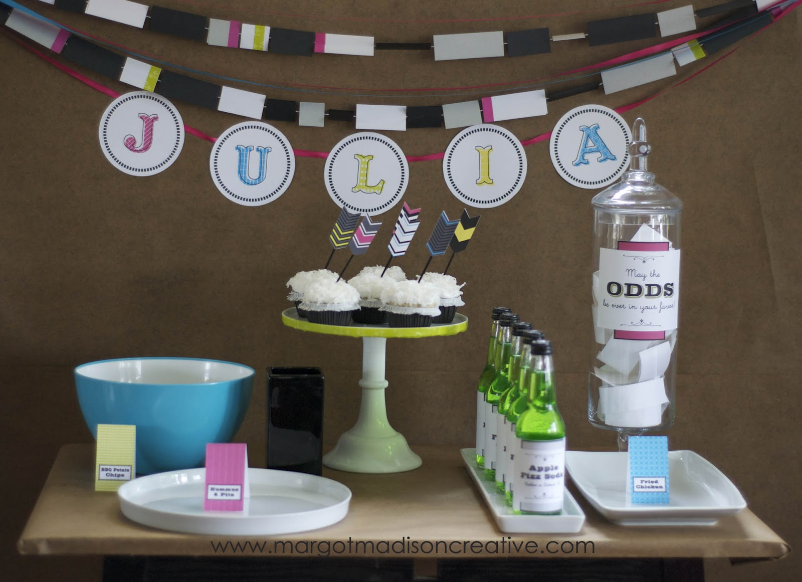 Margotmadison Set Up For A Hunger Games Birthday Party