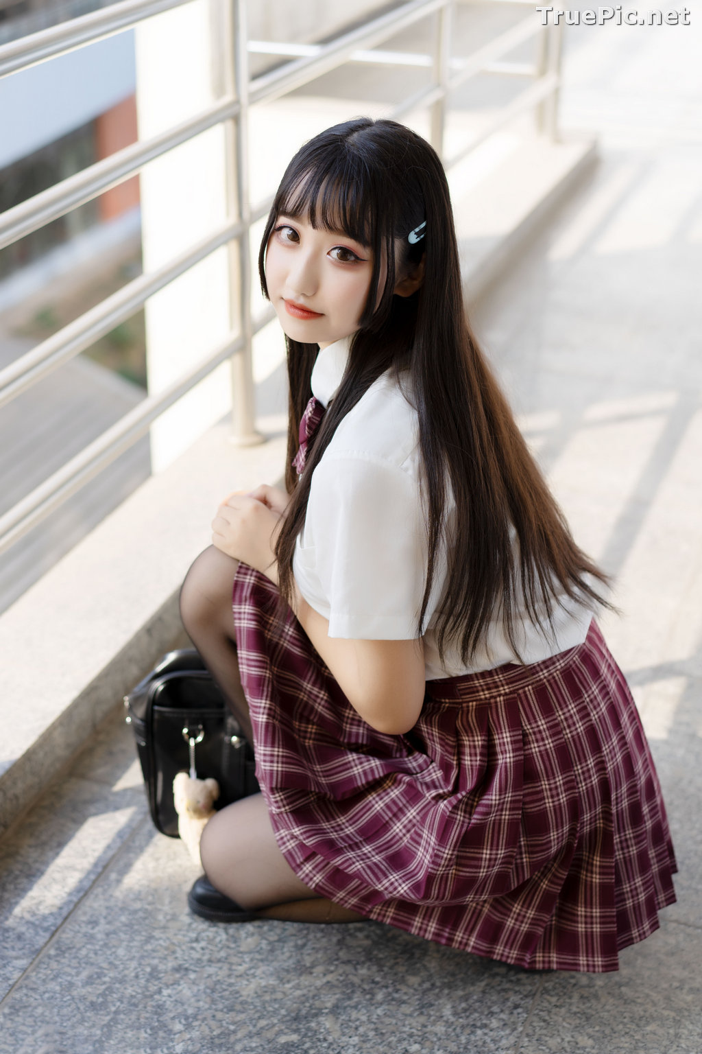 Image [MTCos] 喵糖映画 Vol.023 – Chinese Cute Model – Long Hair JK Girl - TruePic.net - Picture-10