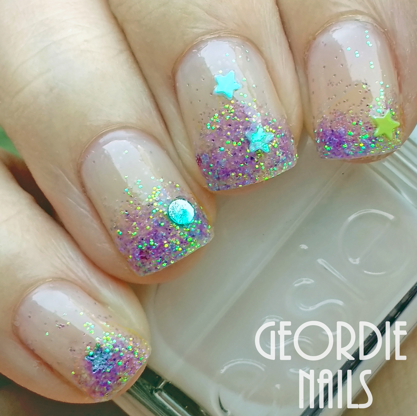 Geordie Nails Charlies Nail Art Glitter And Emojis