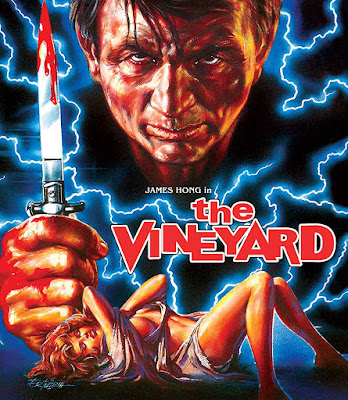 Cover art for Vinegar Syndrome's Blu-ray/DVD combo of THE VINEYARD.