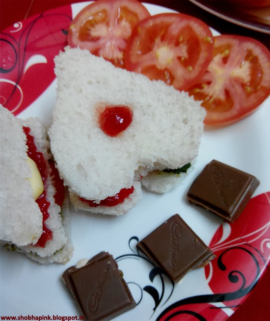 Valentine's Day Sandwich