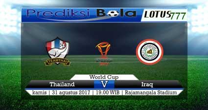 Prediksi pertandingan Thailand vs Iraq 31 Agustus 2017