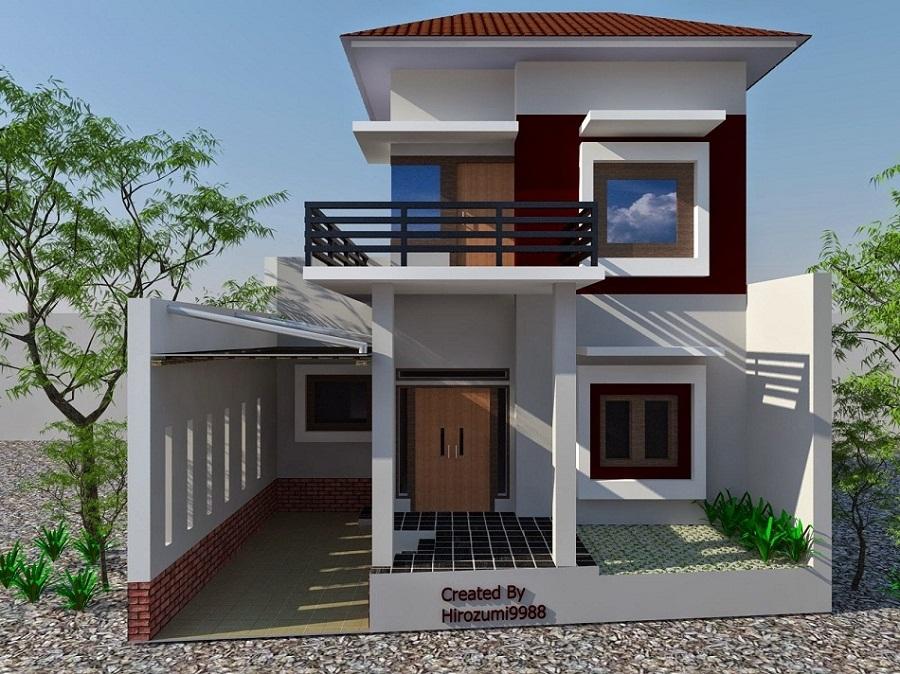 rumah minimalis modern 2 lantai terbaru