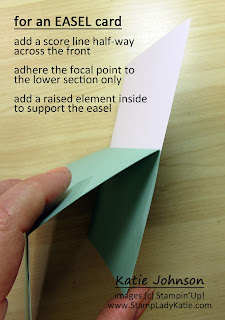 fold lines for an easel card