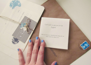 Handmade wedding invitation finished