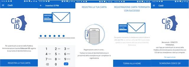 carta di identità elettronica regitrazione