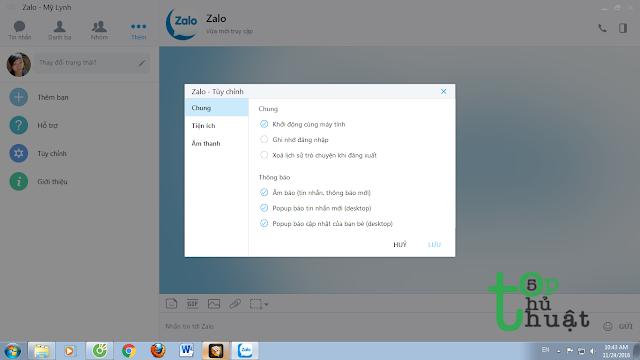 Đánh dấu mục Khởi động cùng máy tính