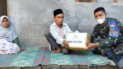 Dandim Loteng Bantu warga Disabilitas di Desa Bunut Baok