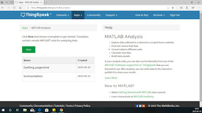 MATLAB Analysis screen