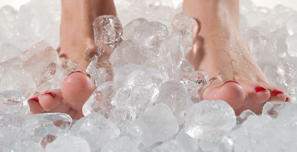 Ice For Athlete's Foot