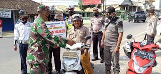 Satgas Covid Tanggamus Gelar Operasi Yustisi di Talang Padang dan Tindak 32 Pelanggar
