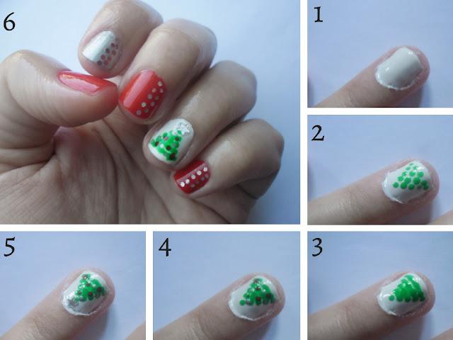 Εύκολο nail art: Χριστουγεννιάτικο δέντρο