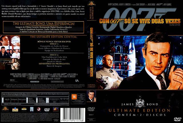 Capa DVD Com 007 Só Se Vive Duas Vezes