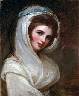One of the many paintings of Emma Hamilton by the English portrait painter, George Romney