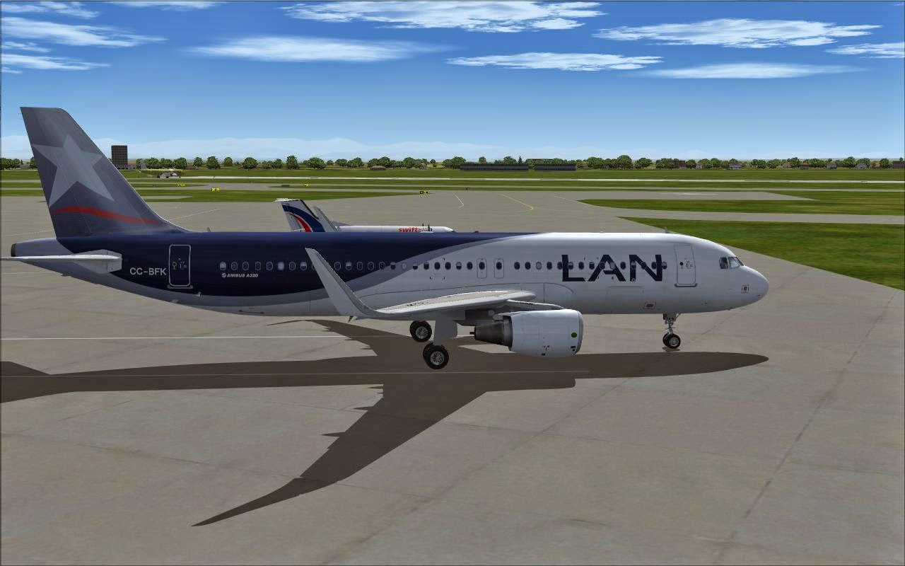 FS2004 REPAINTS: PROJECT AIRBUS A320-200 SL LAN Airlines CC-BFR