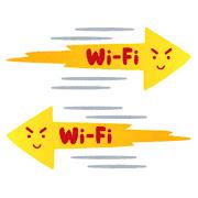 速いWi-Fiのイラスト