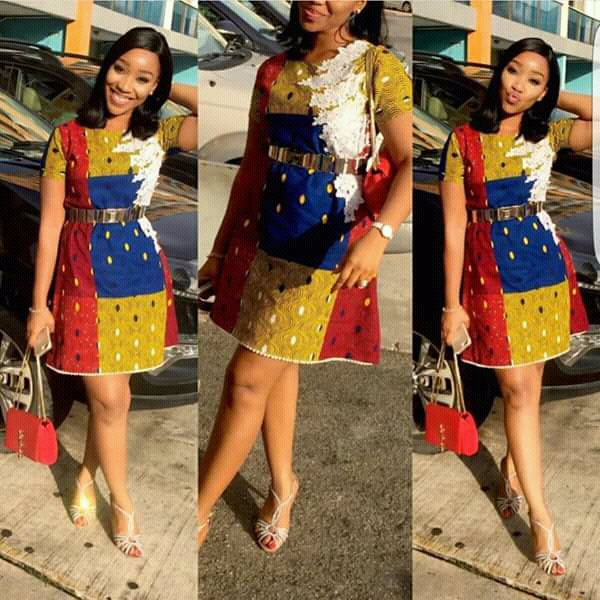 50 New and Trending African Fashion Print Design : Ankara Short Gown Styles
