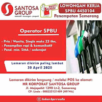 Lowongan kerja SPBU Semarang Tahun 2020