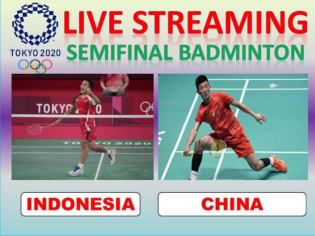 Pasti Seru Nonton Live Olimpiade Semifinal Badminton Tunggal Putra : A.S. Ginting (Indonesia) Vs L. Chen (China) Jam 11.50 WIB