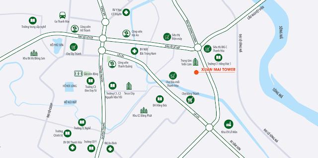 vị trí dự án Xuân Mai Tower Thanh Hóa