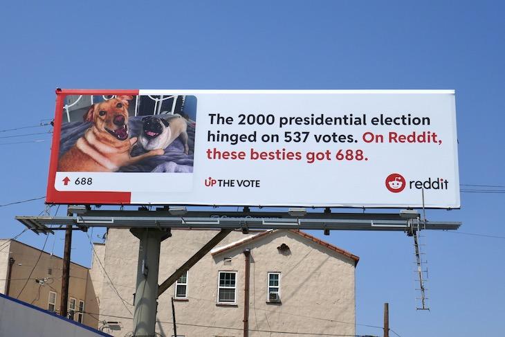 The 2000 presidential election Reddit besties billboard